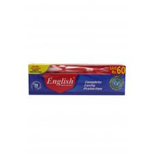 English ToothPaste Cavity Protection 70g Brush Pack