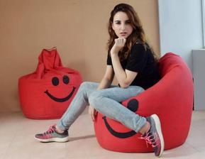 Hareem Shah Style smiley bean bag sofa export quality filled with comfortable beans