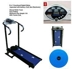 Comercial Multifunction Manual Roller Treadmill with display meter and pulse