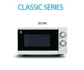 PEL Classic Microwave Oven 20Ltr (White/Black)