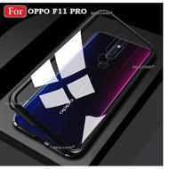Luxury Magnetic Adsorption Metal Case for Oppo F11 Pro Black