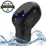IPX6 Bluetooth Mini Earbud Anti-Noice Handsfree Earphone with Microphone,[Magnetic USB Charger]