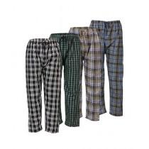 Milano Mall Cotton Pajamas Multicolor for Men Pack of 4