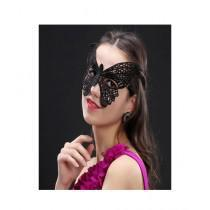 Stylesonline Lace Sexy Butterfly Cat Eye Face Mask Black