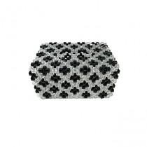 CreativeCrafts Beaded Tissue Box Black-White (TB-BX-BW-001)