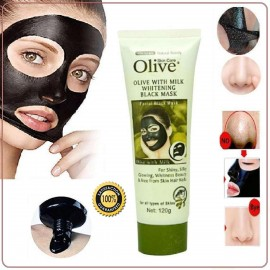 Olive black mask in Charcoal extract