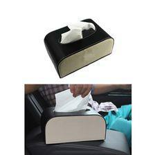 Genuine Black and White Car Tissue Box | Tissue Holder | Modern Paper Case Box | Napkin Container Tray | Towel Desktop