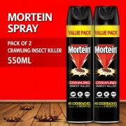 Pack of 2 - Mortein Crawling Insect Killer - 550ml